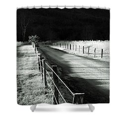 The Lone Photographer Shower Curtain by Douglas Stucky