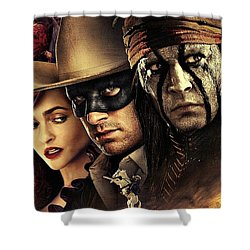 The Lone Ranger Shower Curtain by Movie Poster Prints