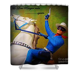 The Lone Ranger Rides Again Shower Curtain by John Malone