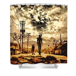 The Lone Wanderer Shower Curtain