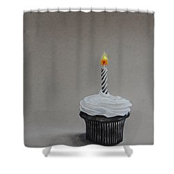 The Loneliest Birthday Ever Shower Curtain by Jean Cormier