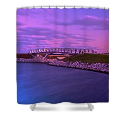 The Lonely Bridge Shower Curtain by Jonah  Anderson