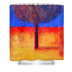 The Lonely Tree In Autumn Shower Curtain