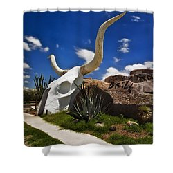 The Long Horn Grill Shower Curtain