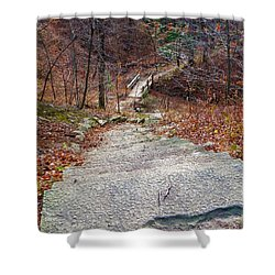 The Long Lonely Trail... Shower Curtain
