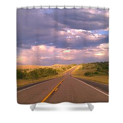 The Long Road Home Shower Curtain