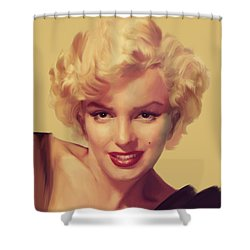 The Look In Gold Shower Curtain by Chris Consani