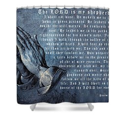 The Lord Is My Shepherd Shower Curtain by Albrecht Durer
