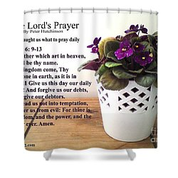 The Lords Prayer Shower Curtain