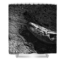 The Lost Shoe Shower Curtain by Jason Politte