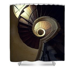 The Lost Tower Shower Curtain by Jaroslaw Blaminsky