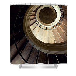 The Lost Wooden Tower Shower Curtain