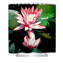 The Lotus Shower Curtain by John  Duplantis