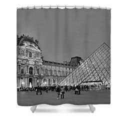 The Louvre Black And White Shower Curtain