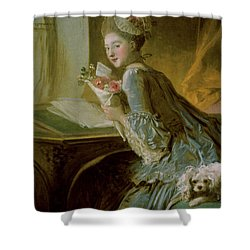 The Love Letter Shower Curtain by Jean Honore Fragonard
