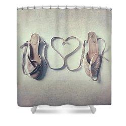 The Love Of A Ballerina Shower Curtain by Joana Kruse