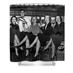 The Lucky Bartender Shower Curtain by Jon Neidert