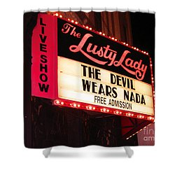 Shower Curtain featuring the photograph The Lusty Lady by Kym Backland