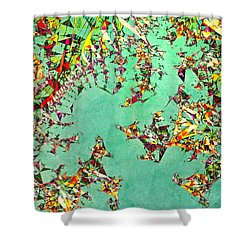 The Mad Hatter's Fractal Shower Curtain by Susan Maxwell Schmidt
