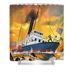 The 'madmen' Of The Mississippi Shower Curtain by English School