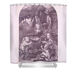 The Madonna On The Rocks Shower Curtain