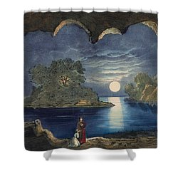 The Magic Lake Circa 1856  Shower Curtain by Aged Pixel