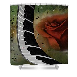 The Magic Of Love And Music Shower Curtain