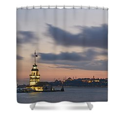 The Maiden's Tower  Shower Curtain by Ayhan Altun