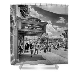 The Main Street Cinema Shower Curtain by Howard Salmon
