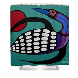 The Majestic Loon Shower Curtain