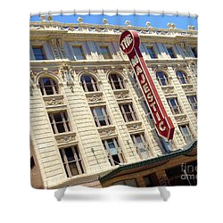 Shower Curtain featuring the photograph The Majestic Theater Dallas #1 by Robert ONeil