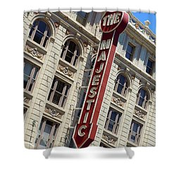 Shower Curtain featuring the photograph The Majestic Theater Dallas #2 by Robert ONeil