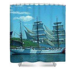 The Majestic Us Coast Guard Shower Curtain by John Malone