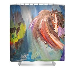 The Majik Of Horses Shower Curtain