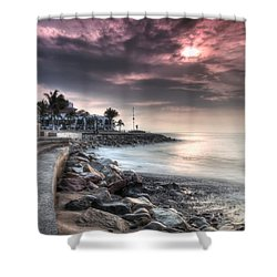 The Malecon Shower Curtain