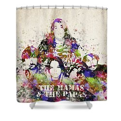 The Mamas And The Papas Shower Curtain by Aged Pixel