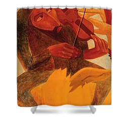 The Man And Mouse Shower Curtain