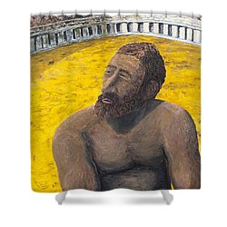 The Man In The Arena Shower Curtain by Richard Wandell