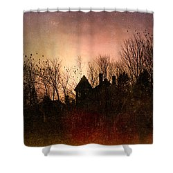The Mansion Is Warm At The Top Of The Hill Shower Curtain by Bob Orsillo