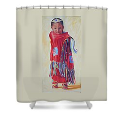 The March Of Red Butterfly Shower Curtain