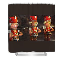 Press Release Christmas Nut Crackers Shower Curtain