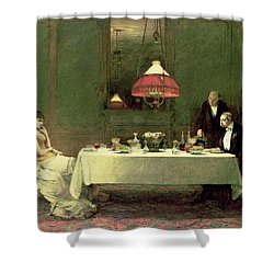 The Marriage Of Convenience, 1883 Shower Curtain by Sir William Quiller Orchardson