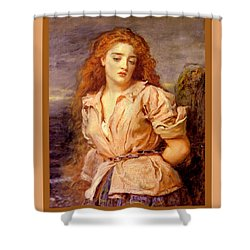 The Martyr Of The Solway Poster Shower Curtain by John Everett Millais