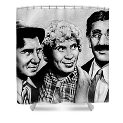 The Marx Brothers Shower Curtain by Andrew Read