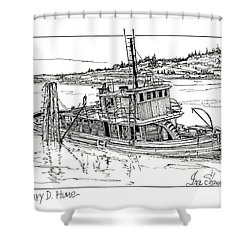 The Mary D. Hume Shower Curtain by Ira Shander