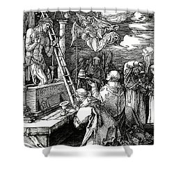 The Mass Of St. Gregory Shower Curtain by Albrecht Duerer