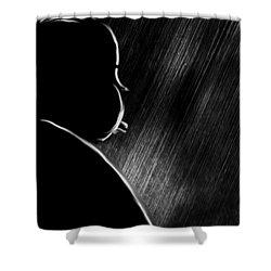 The Master Of Suspense Shower Curtain by Bob Orsillo