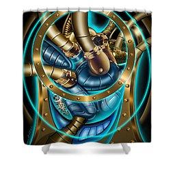 The Mechanical Heart Shower Curtain