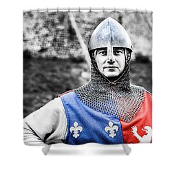 Shower Curtain featuring the photograph The Medieval Warrior by Stwayne Keubrick