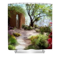 The Meditative Garden  Shower Curtain